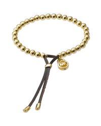Michael Kors - Black Bead Stretch Bracelet - Lyst