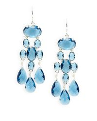 Lauren by Ralph Lauren | Blue Stone Chandelier Earrings | Lyst