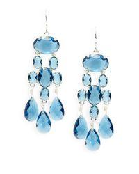 Lauren by Ralph Lauren | Blue Stone Chandelier Earrings | Lyst