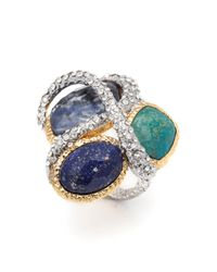 Alexis Bittar | Multicolor Multi Stone Encrusted Vine Ring | Lyst