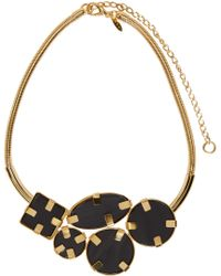 Marni - Metallic Gold And Black Horn Necklace - Lyst