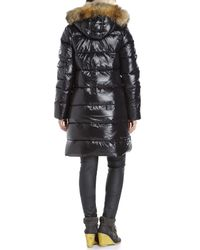 Pyrenex | Black Authentic Shiny Real Fur Trim Down Coat | Lyst
