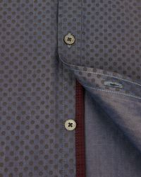 Ted Baker | Blue Tonal Spot Print Shirt for Men | Lyst