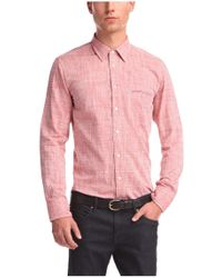 BOSS Orange | Red 'cieloebue' | Slim Fit, Cotton Slub Dobby Shirt for Men | Lyst