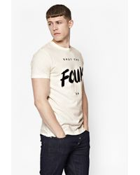 French Connection | White Shut The Fcuk Up T-shirt | Lyst