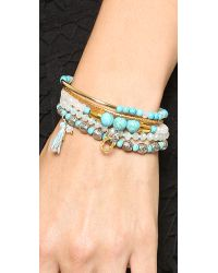 Chan Luu - Blue Beaded Bracelet Set Turquoise Mix - Lyst