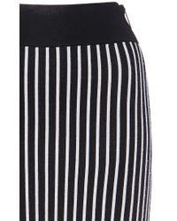 Christopher Kane - White Stripes And Flowers Column Skirt - Lyst