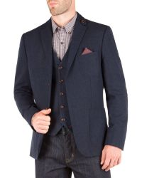 Racing Green - Blue John Semi Plain Blazer for Men - Lyst
