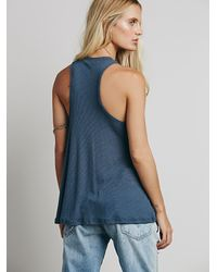 Free People - Gray Mock Me Tank - Lyst