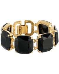 Lauren by Ralph Lauren - Metallic Cabo Faceted Cushion Stone Flex Bracelet - Lyst