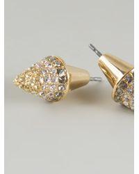 Eddie Borgo - Metallic Cone Earrings - Lyst