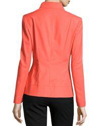 Lafayette 148 New York - Pink Allison Wing-collar Jacket - Lyst