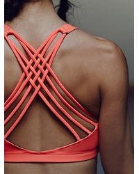 Free People - Red Solid Chic Bra - Lyst