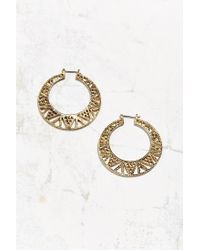 Urban Outfitters - Metallic Zigzag Cutout Hoop Earring - Lyst