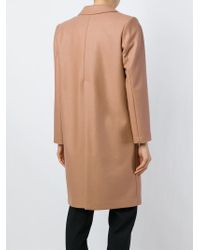 Erika Cavallini Semi Couture | Pink Notched Lapel Coat | Lyst