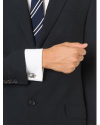 Paul Smith - Gray Embossed Coin Cufflinks for Men - Lyst