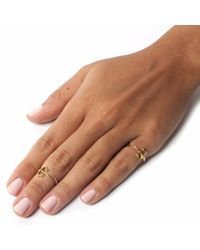 Leivan Kash - Metallic Dagger Pinky Ring Gold - Lyst