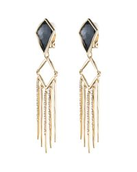 Alexis Bittar | Black Fancy Kite Encrusted Fringe Clip Earring You Might Also Like | Lyst