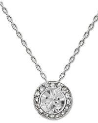 Swarovski | Metallic Silver-tone Crystal Circle Pendant | Lyst