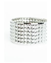 Missguided - White Toby Chunky Spike Bracelet - Lyst