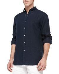 Lacoste - Blue Longsleeve Linen Classicfit Shirt for Men - Lyst