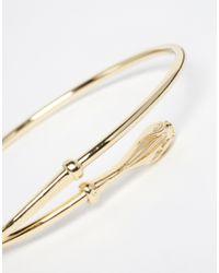 ASOS - Metallic Open Snake Cuff Bracelet - Lyst