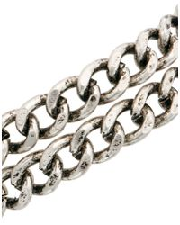 ASOS - Metallic Bracelet With Double Chain - Lyst