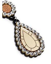 Yazbukey | Multicolor 'gold Diamonds' Gemstone Plexiglas Clip Earrings | Lyst