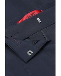 HUGO | Blue 'hemine' | Stretch Crepe Dress Pants | Lyst
