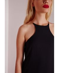 Missguided - Gold Strap Detail Maxi Dress Black - Lyst