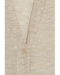 JOSEPH - Natural Fine Knit Cashmere Cardigan - Lyst