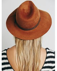 Free People - Brown Joplin String Wrapped Hat - Lyst