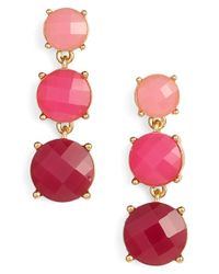 kate spade new york | 'smell The Roses' Linear Drop Earrings - Bright Pink Multi | Lyst