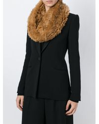 Yves Salomon - Natural Rabbit Fur Scarf - Lyst