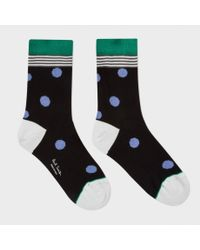 Paul Smith | Women's Black Polka Stripe Socks | Lyst