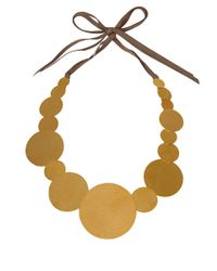 Herve Van Der Straeten - Metallic Goldplated Pailettes Necklace - Lyst