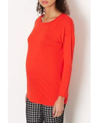 TOPSHOP | Red Maternity Crepe Top | Lyst