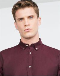 Zara   Purple Two-tone Oxford Shirt for Men   Lyst