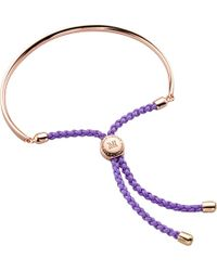 Monica Vinader | Metallic Fiji 18ct Violet Gold-vermeil Friendship Bracelet | Lyst