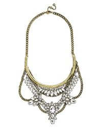 BaubleBar | Metallic 'crystal Grendel' Bib Necklace | Lyst