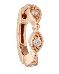 Stone - Pink Rose Gold Yasmine Single Hoop Earring - Lyst