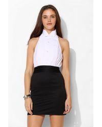 Urban Outfitters | White Urban Renewal Tuxedo Openback Shirtdress | Lyst