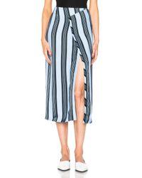 Acne | Blue Karlis Stripe Skirt | Lyst