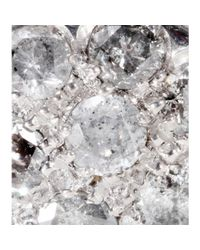 Roberto Marroni   18kt Rhodium-plated White Gold Baby Sand Diamond-encrusted Earrings   Lyst