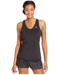 Adidas | Black Breakout T-back Tank Top | Lyst