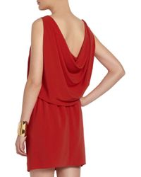 Boutique Moschino | Red Draped Stretch-Crepe Mini Dress | Lyst