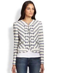 Rebecca Minkoff | Gray Salinas Ocean Stripe Jacket | Lyst