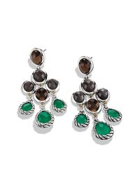 David Yurman - Metallic Semiprecious Multistone Sterling Silver Chandelier Earrings - Lyst