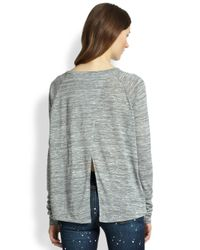 Rag & Bone - Gray Nicole Split-Back Top - Lyst