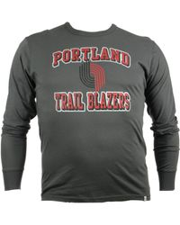 47 Brand - Gray Men's Long-sleeve Portland Trail Blazers Flanker T-shirt for Men - Lyst